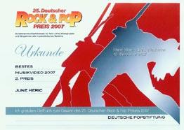 Urkunde_25._Deutscher_ROCK_&_POP_PREIS_2007_und_Video_ORDINARY